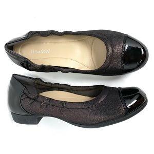 """Akaishi cap toe heeled ballet """"flats"""""""